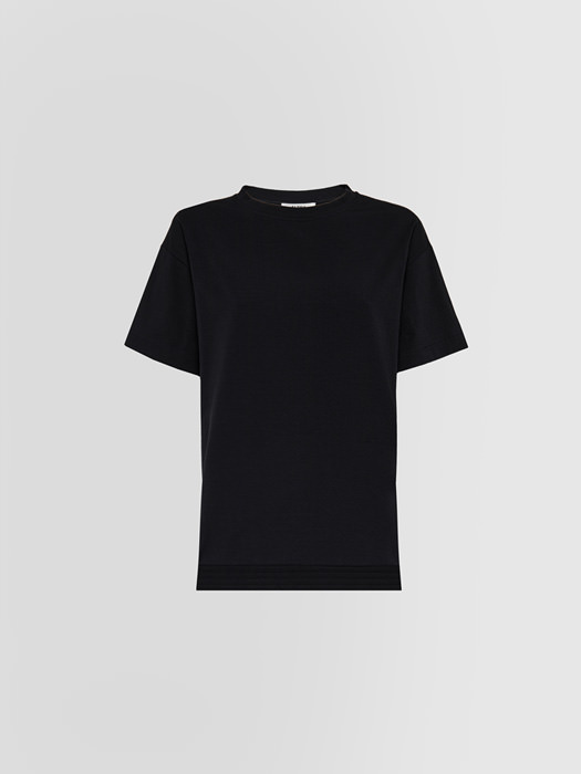 ALPHA STUDIO: RIBBON T-SHIRT IN JERSEY AND POPLIN