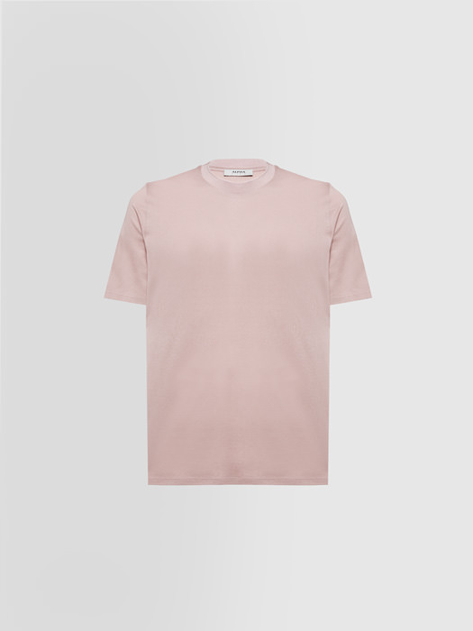 ALPHA STUDIO PIQUE T-SHIRT IN SILK AND COTTON