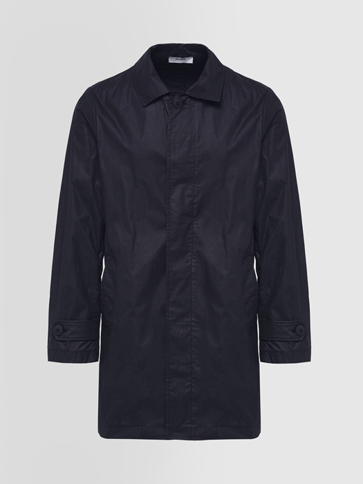 ALPHA STUDIO TRENCH COAT IN TREATED COTTON