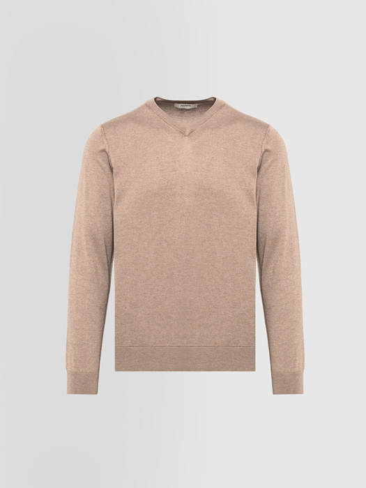 ALPHA STUDIO BASIC SWEATER IN SILK AND CASHMERE